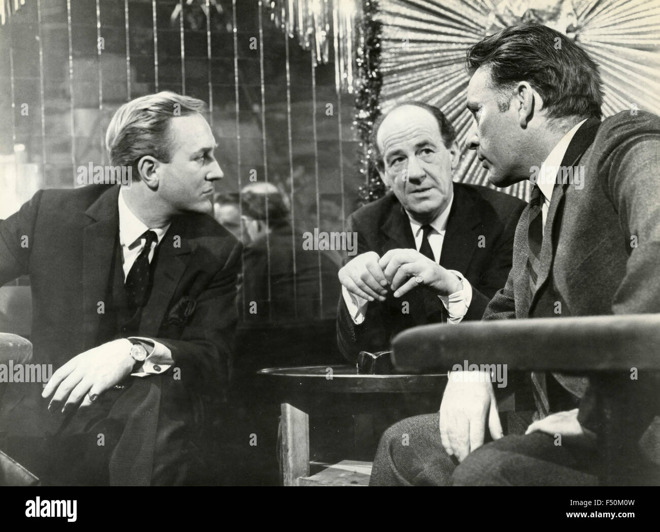 The Welsh actor Richard Burton in a scene from the film 'The Spy Who Came in from the Cold' , UK 1963 - Stock Image