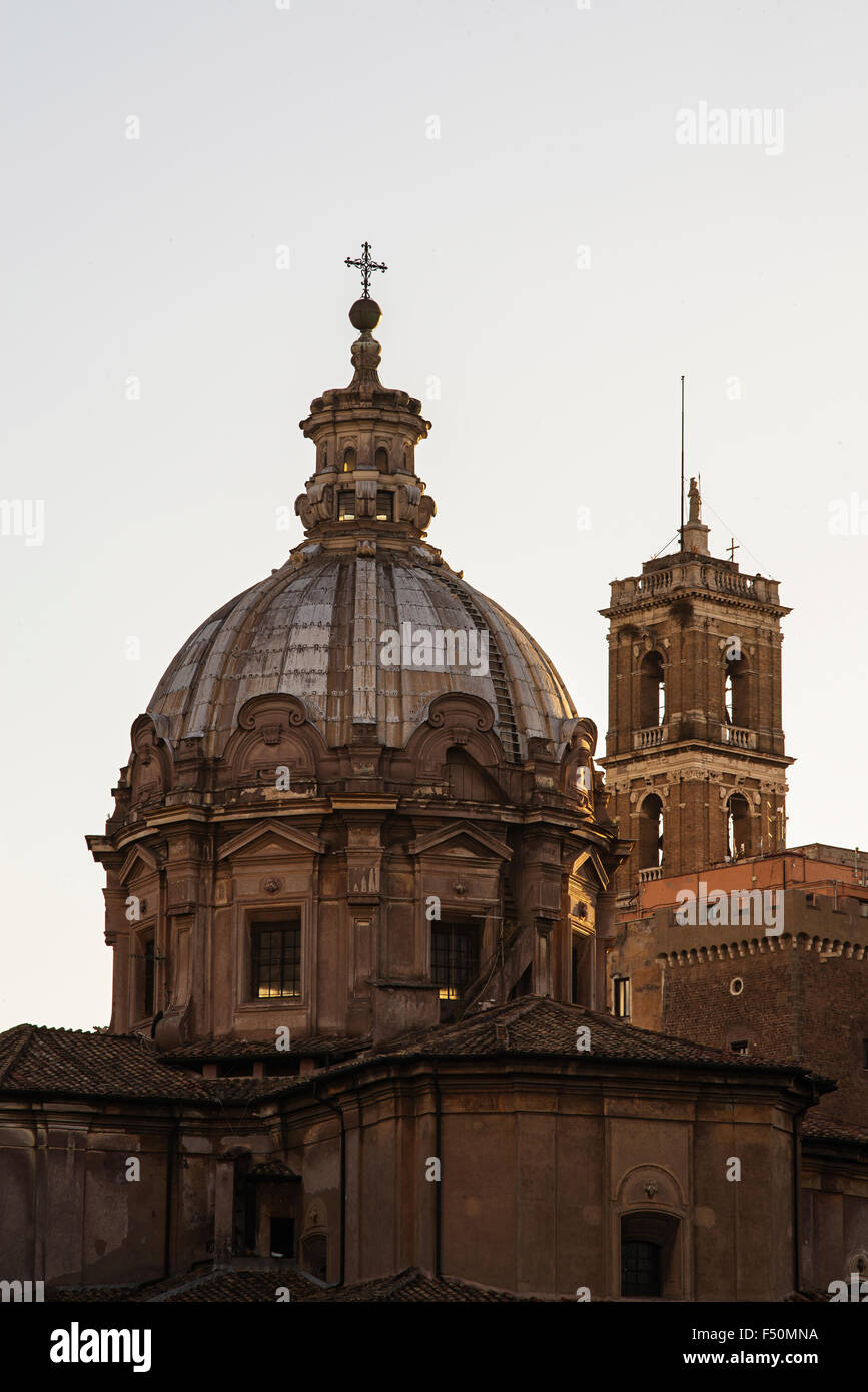 Dome in Rome - Stock Image