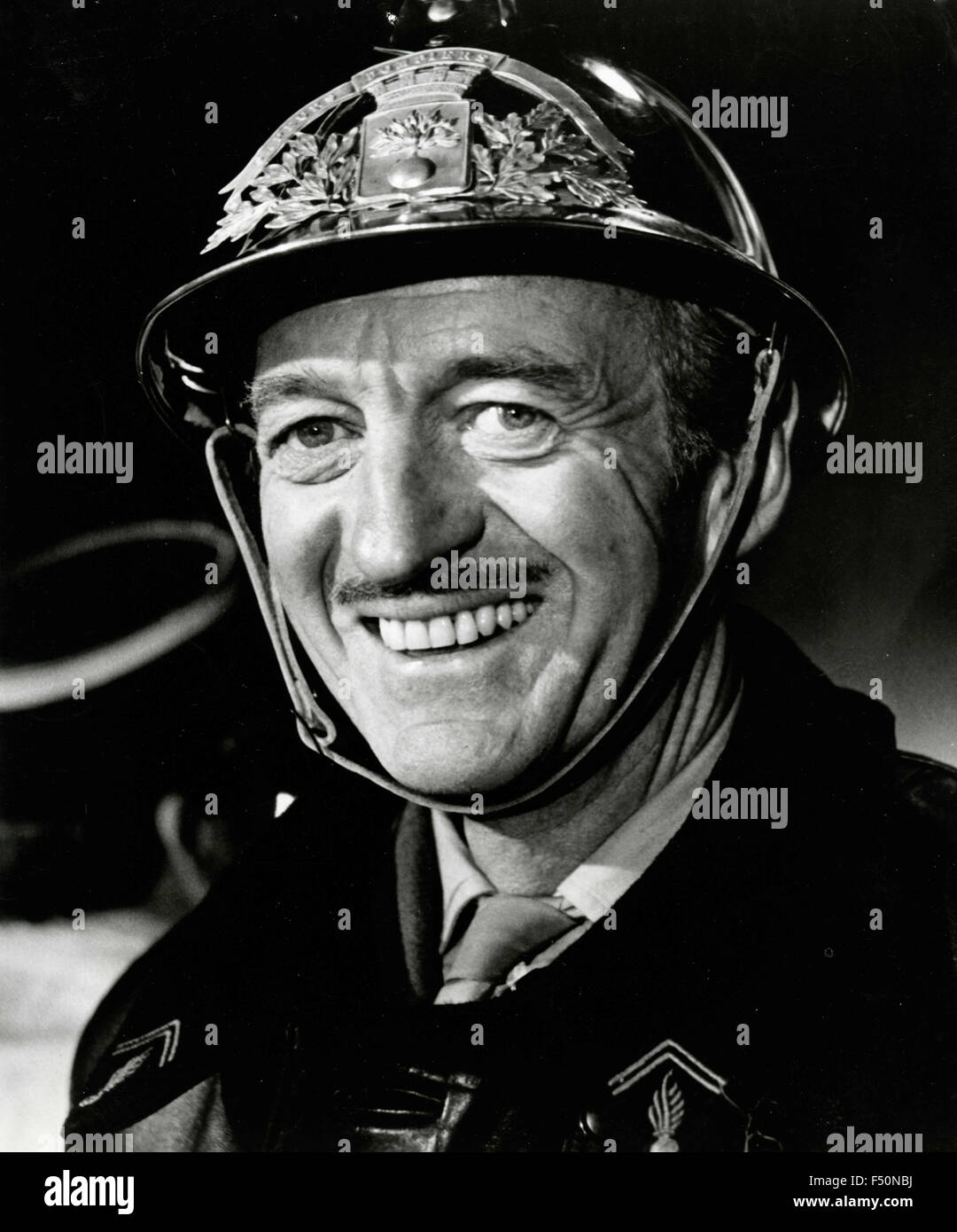 The British actor David Niven in a scene from the film 'The Brain' (Le Cerveau), France - Stock Image