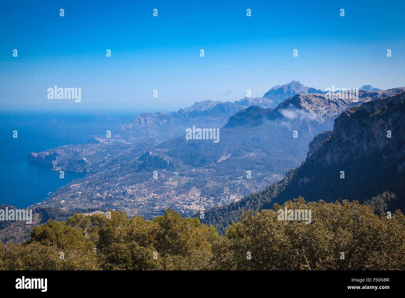 Hiking in the Tramuntana, the mountains of Mallorca - Stock Image