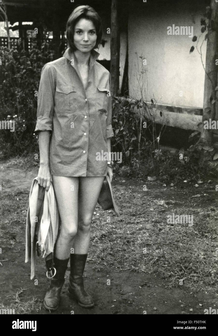The Italian actress Elsa Martinelli in a scene from the movie 'Hatari!', USA - Stock Image