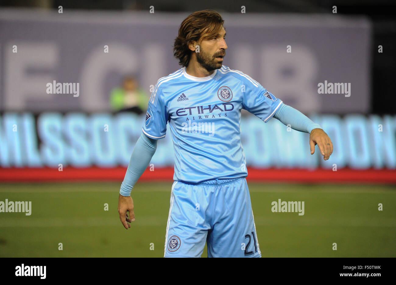 adidas New York City FC MLS 2015 2016 Andrea Pirlo # 21 Soccer Home Jersey Sky