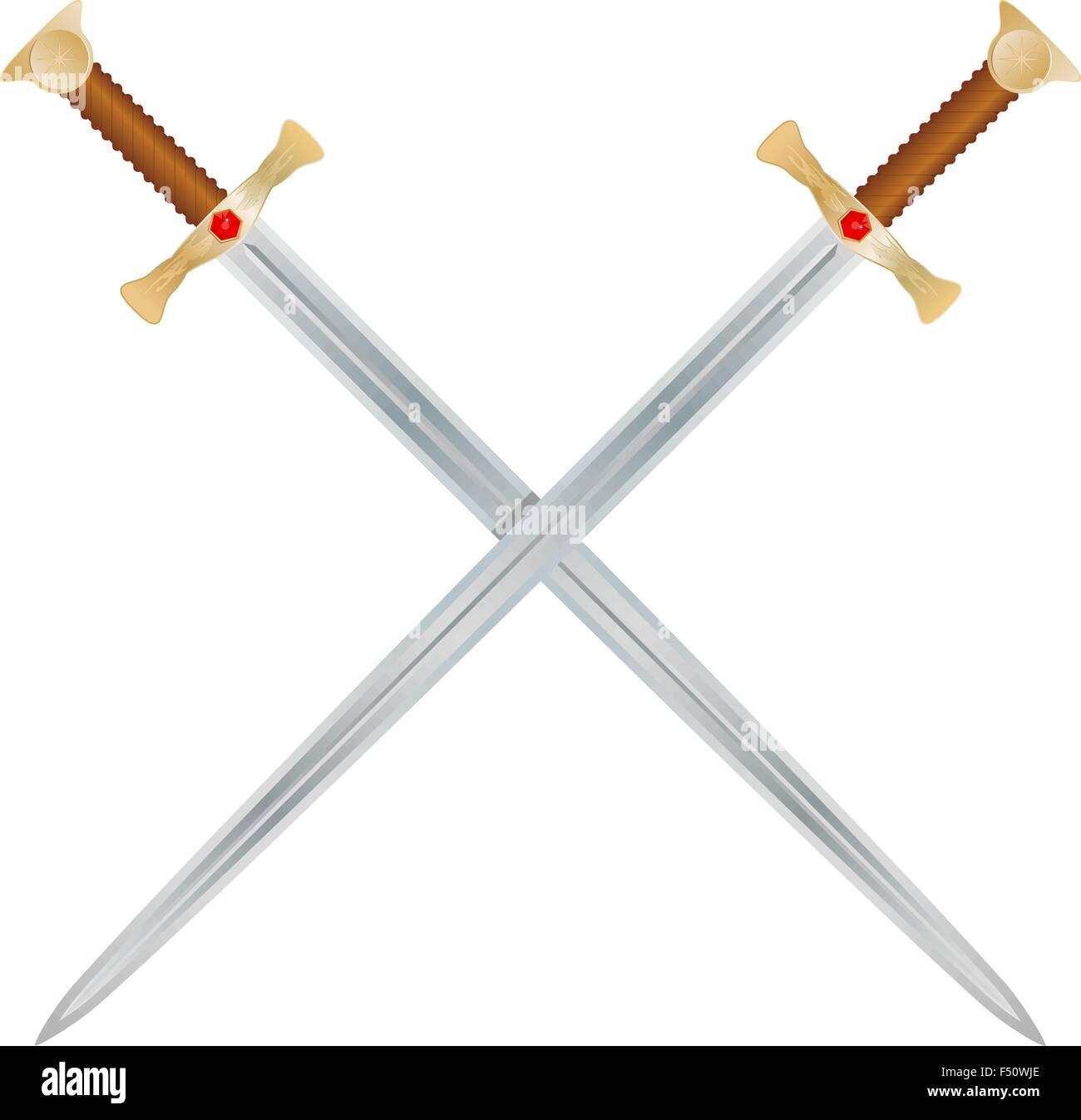 Vector Swords - Stock Vector