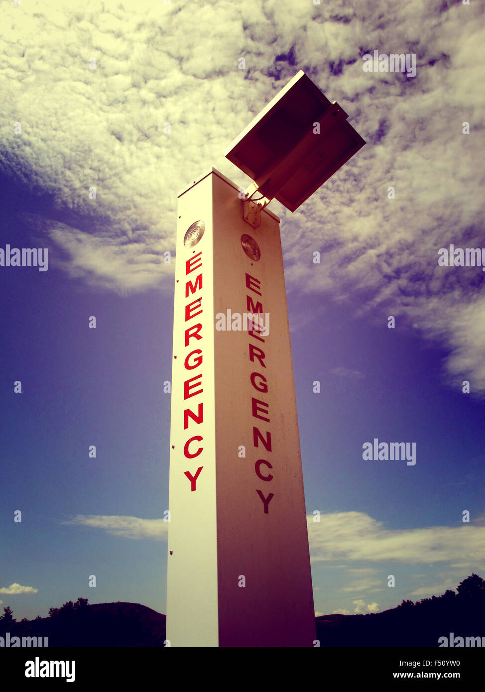 Emergency call box - Stock Image