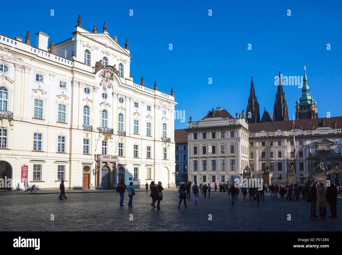 Prague, Castle district, the Archbishop palace - Stock Image