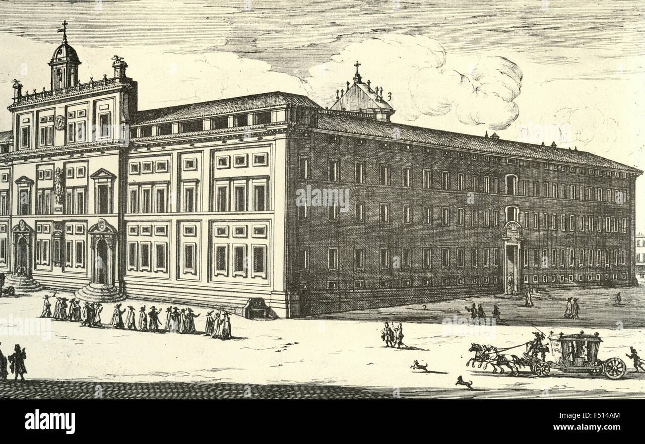 Illustration of Roman College of the Society of Jesus, Rome, Italy - Stock Image