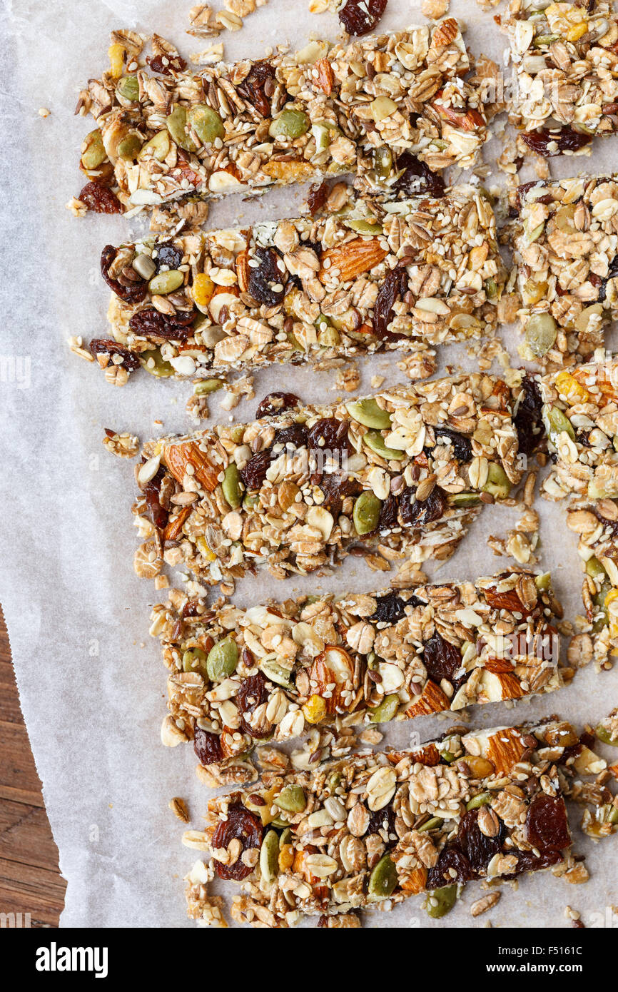 Homemade Granola bars - Stock Image