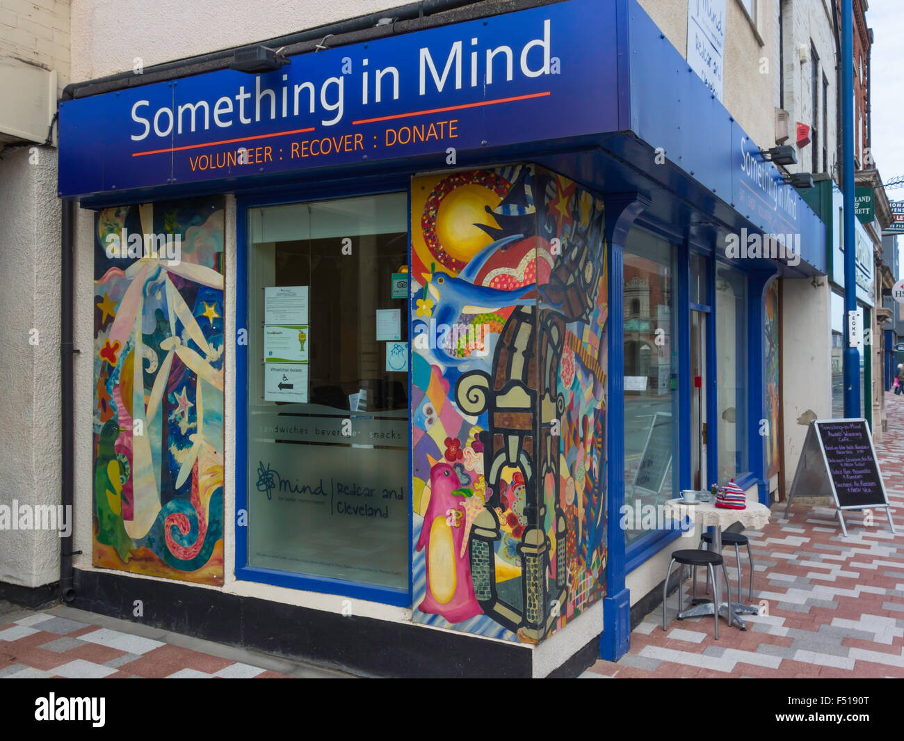 Something in Mind café  run by Mental Health Charity 'Mind' in Redcar North Yorkshire England - Stock Image