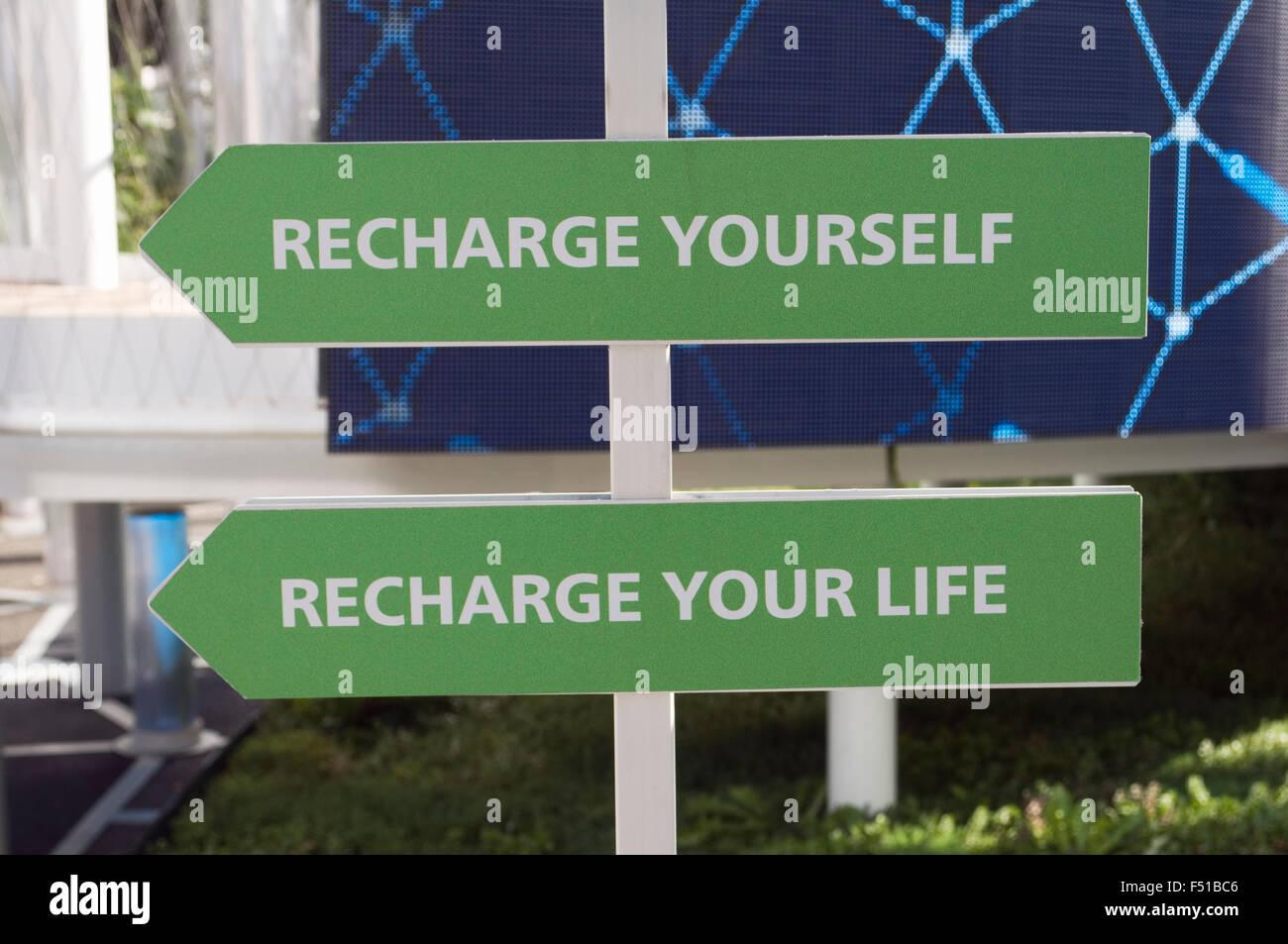 Recharge - Stock Image