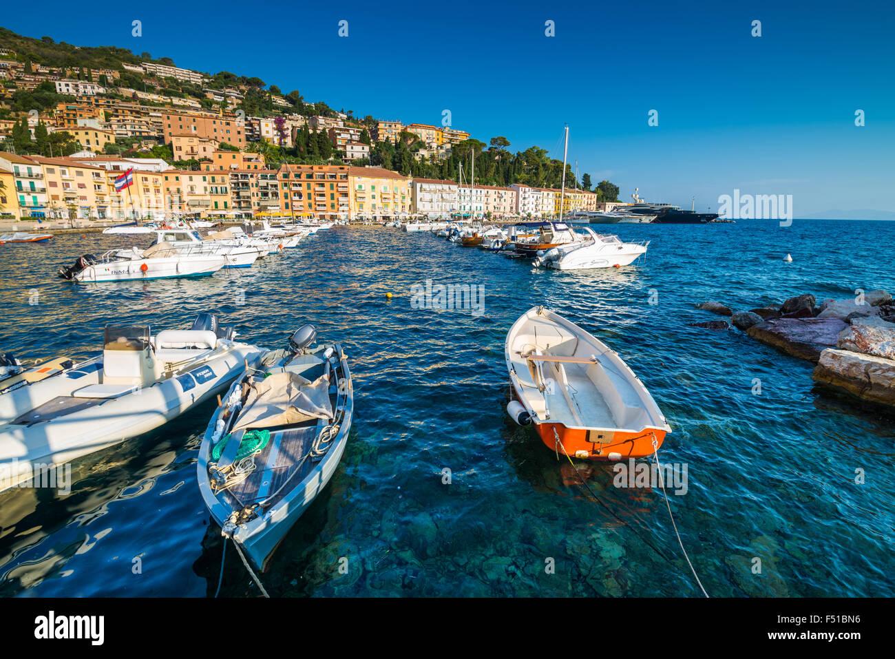Porto Santo Stefano, Monte argentario, Province of Grosseto, Tuscany, Italy, EU, Europe. - Stock Image