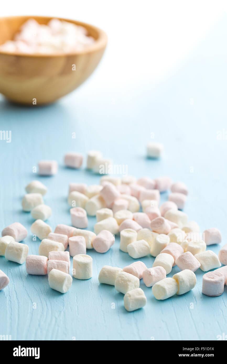 Mini Marshmallow Pile Stock Photos Marshmallows On Kitchen Table Image