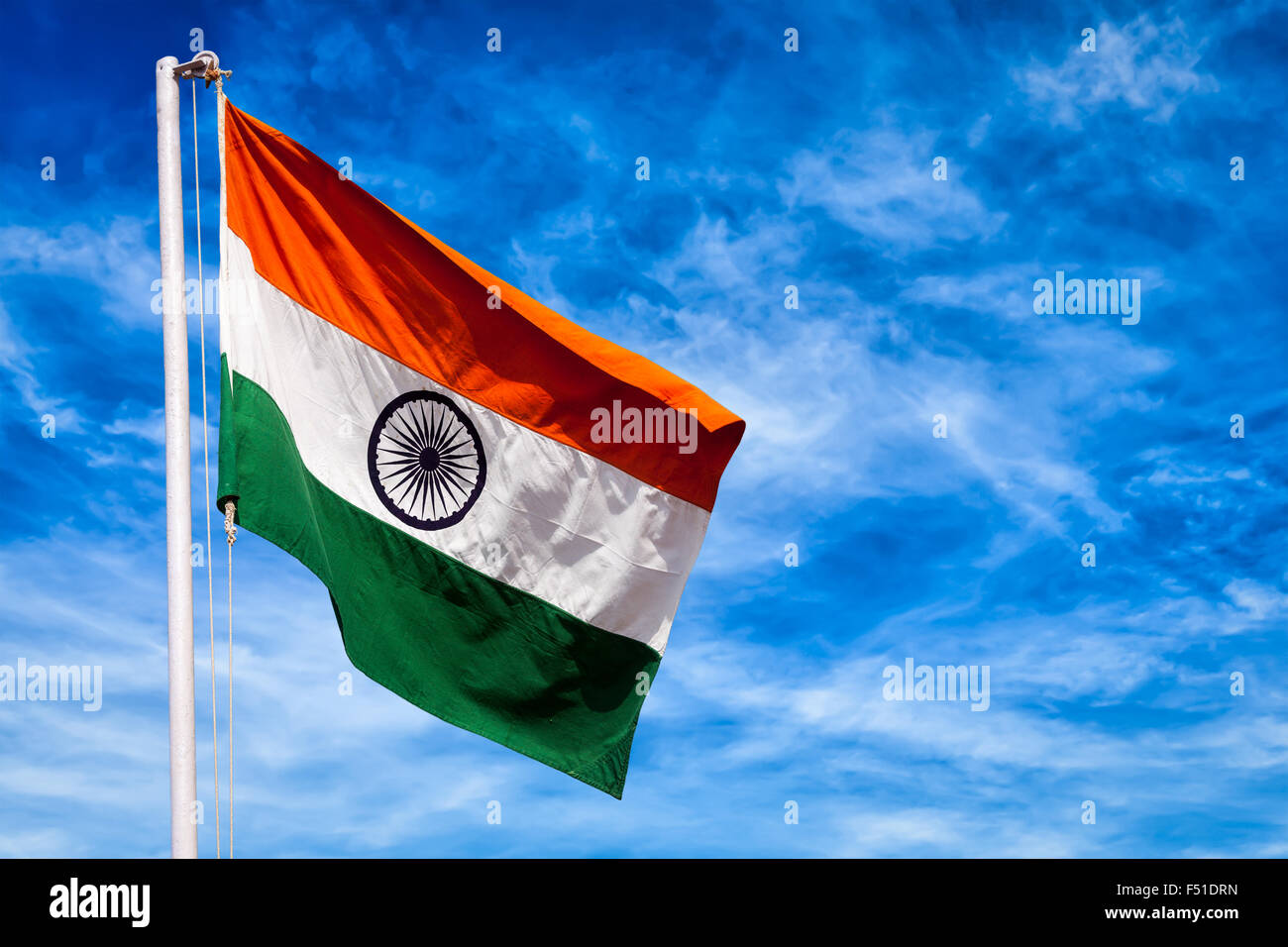Indian flag of India - Stock Image