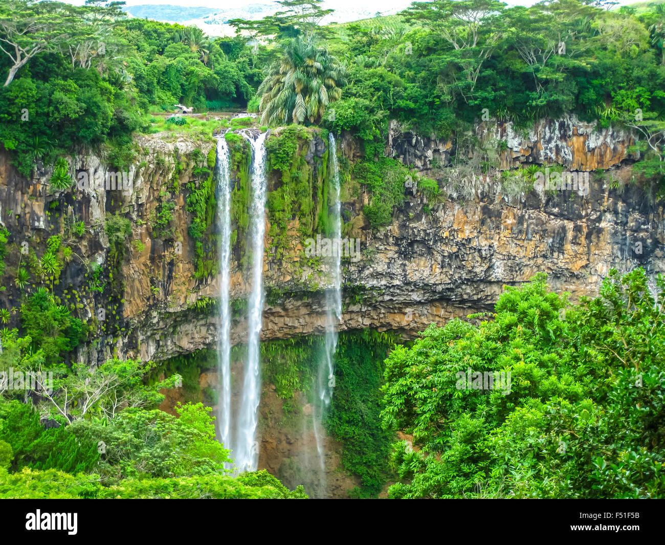 Chamarel Waterfall Mauritius - Stock Image