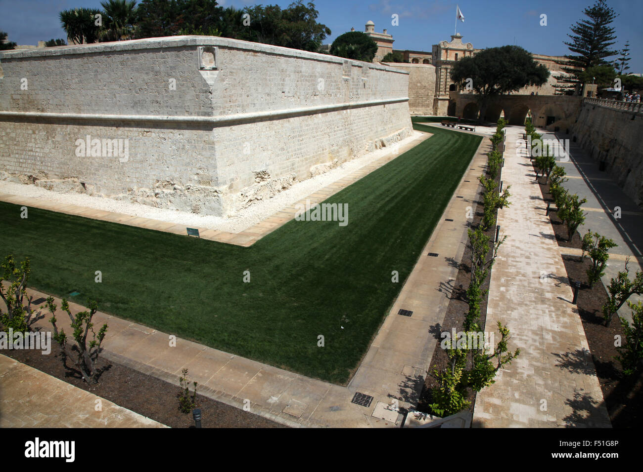 Mdina, since its multi-million Euro face lift, now a very attractive place to visit - Stock Image
