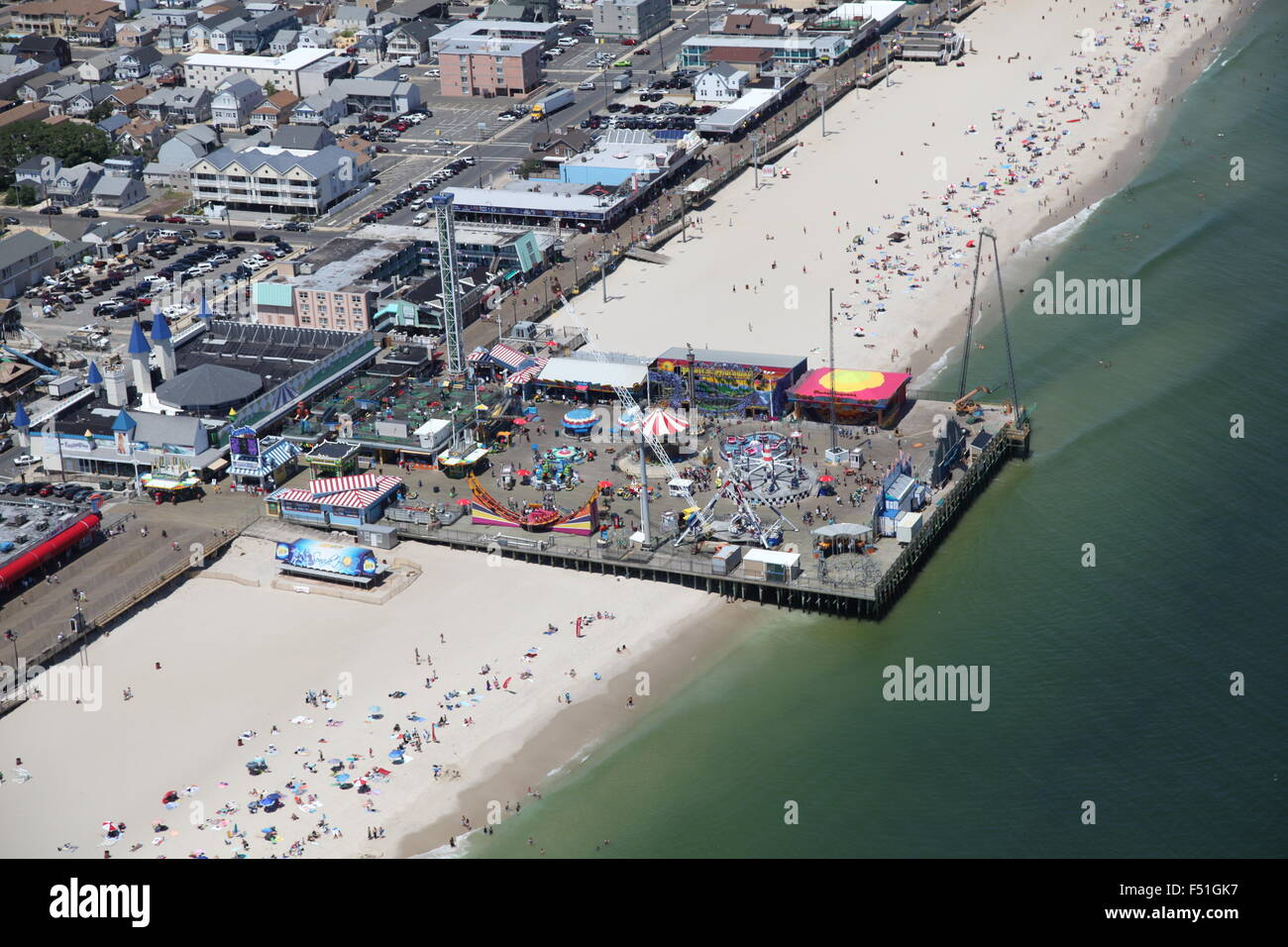 Aerial View Of Point Pleasant Beach, New Jersey Stock