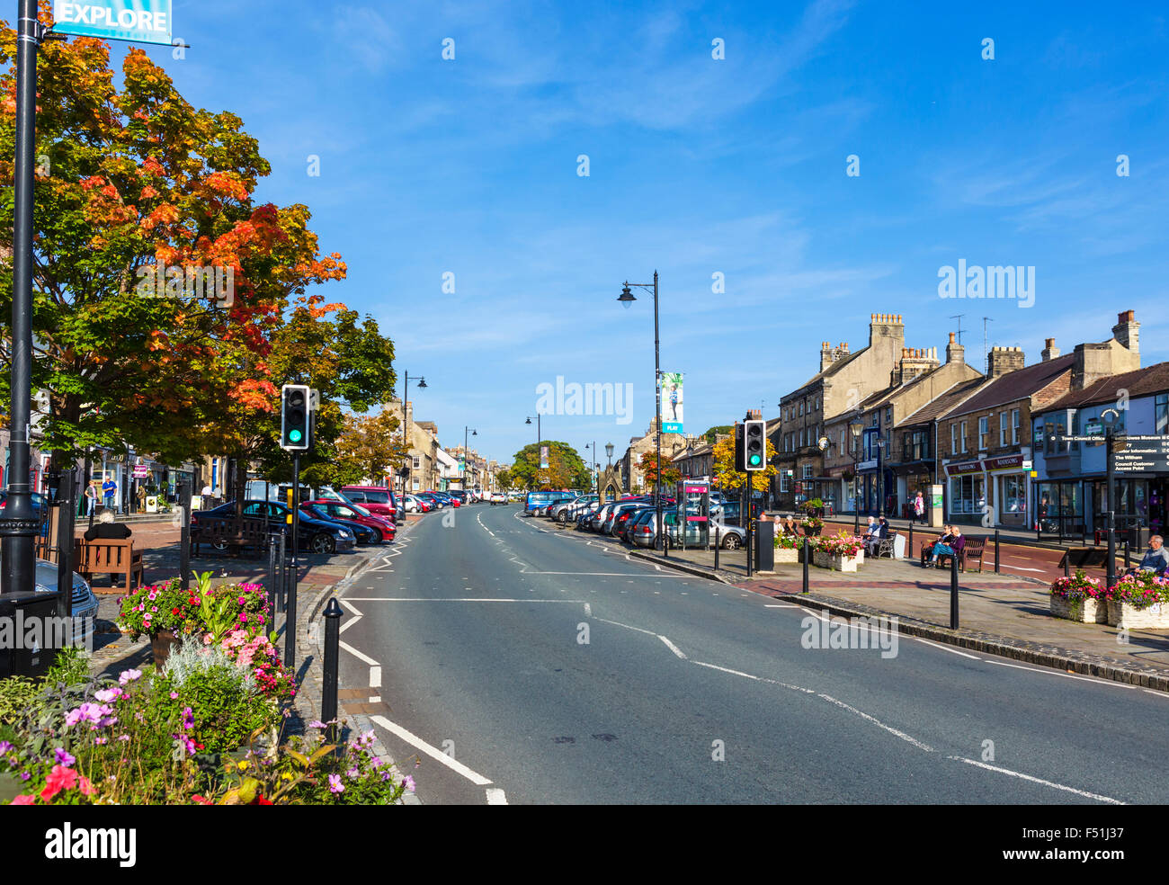 Galgate in the town centre, Barnard Castle, County Durham, England, UK - Stock Image