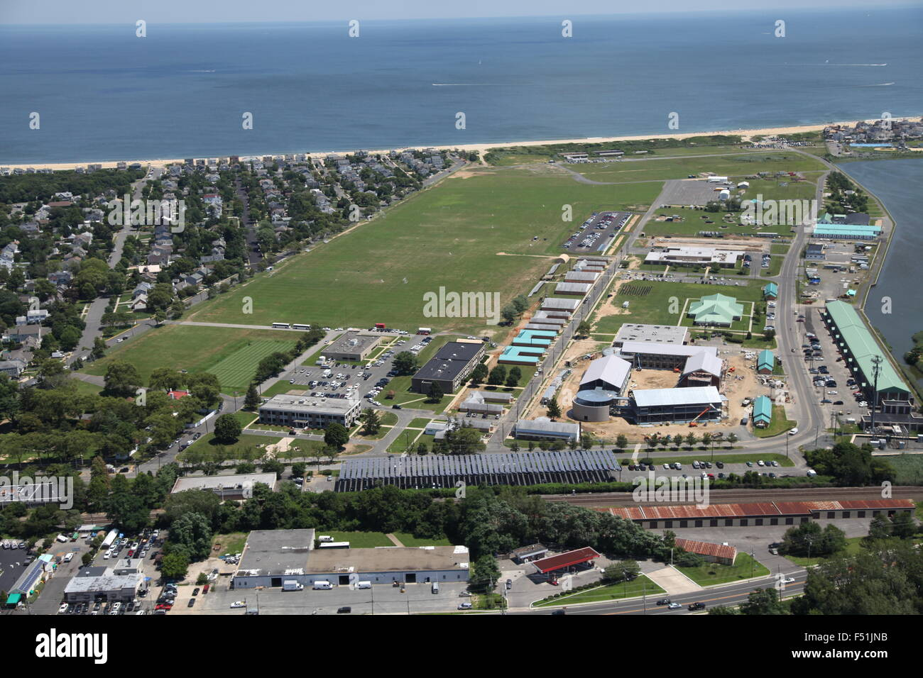 Aerial view of military base at Sea Girt, New Jersey - Stock Image
