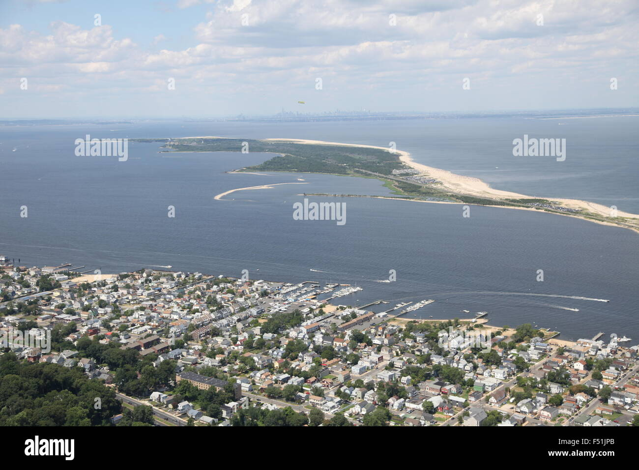 Aerial view of atlantic highlands new jersey and gateway for Atlantic highlands fishing