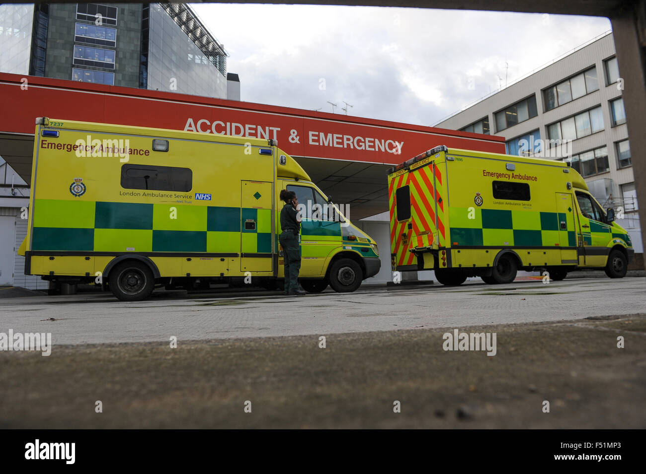 Accident and emergency St Thomas hospital London - Stock Image