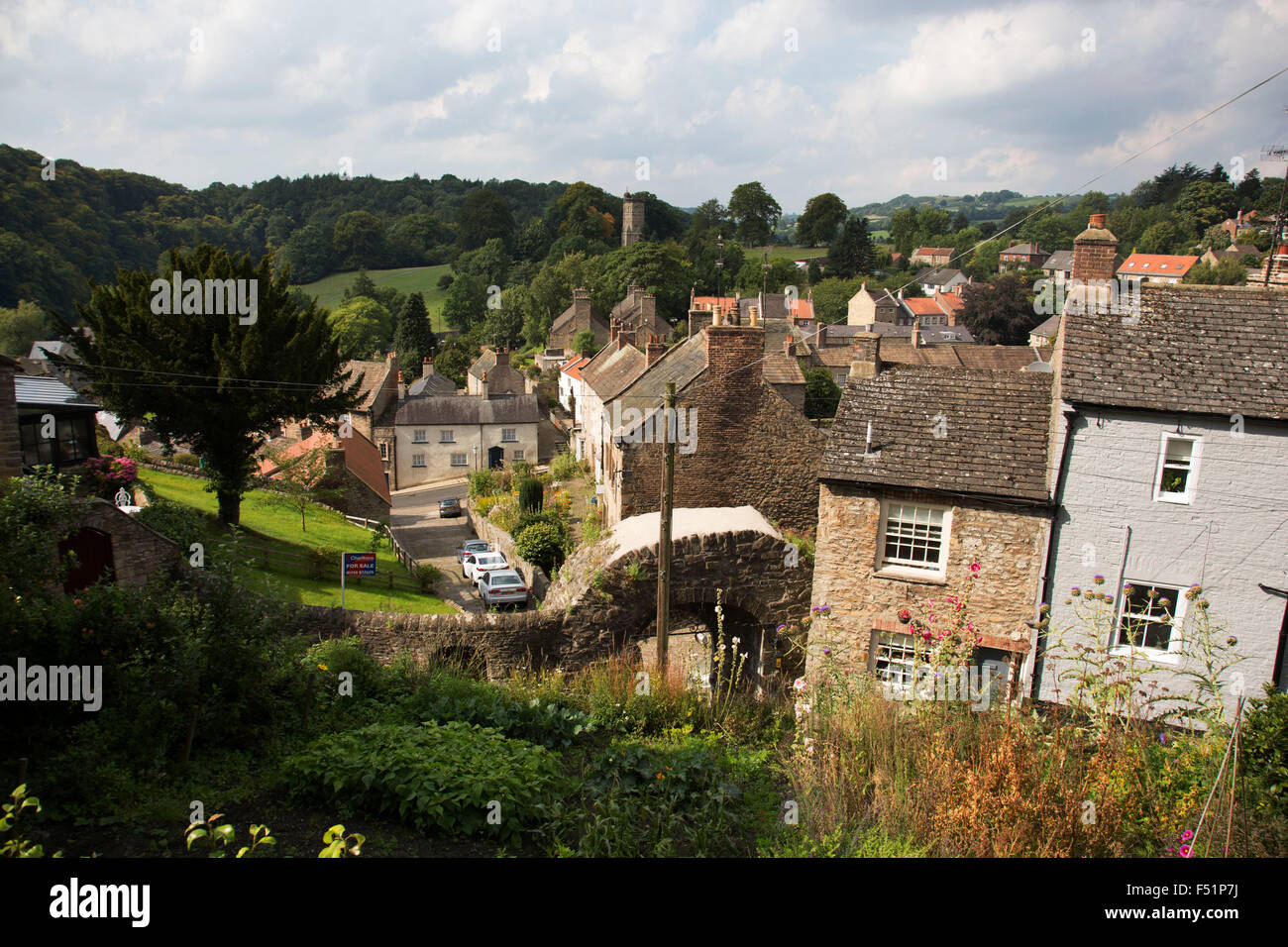 Richmond is a market town and the centre of the district of Richmondshire. Historically in the North Riding of Yorkshire, - Stock Image