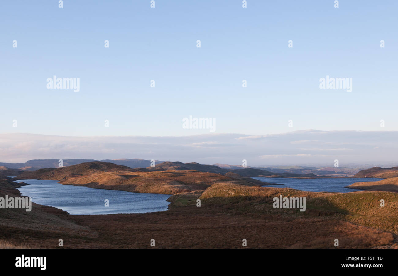Teifi pools on the Cambrian mountains in Wales, UK Stock Photo