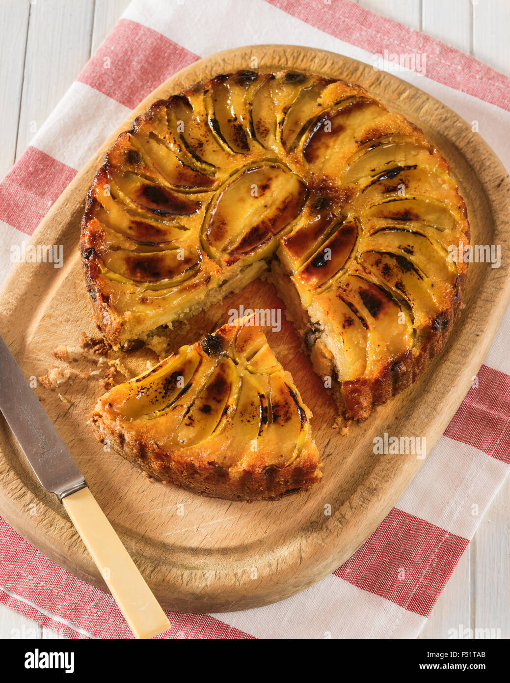 Dorset Apple Cake West Country Traditional Food Uk Stock Photo