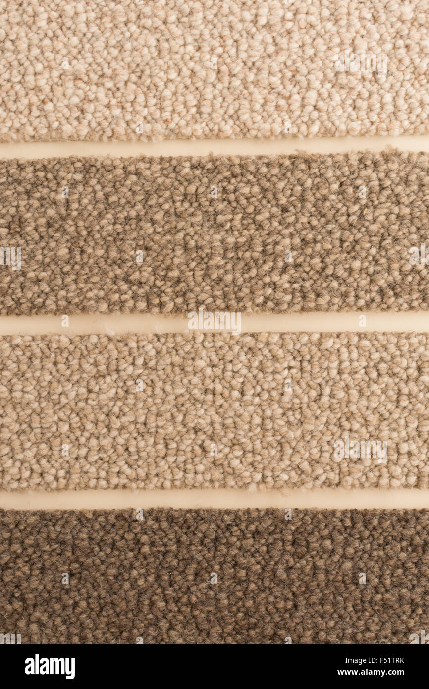 wool loop carpet sample in natural colours shades - Stock Image