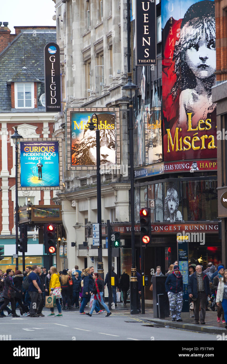 Shaftesbury Avenue, West End, Central London, England United Kingdom Stock Photo