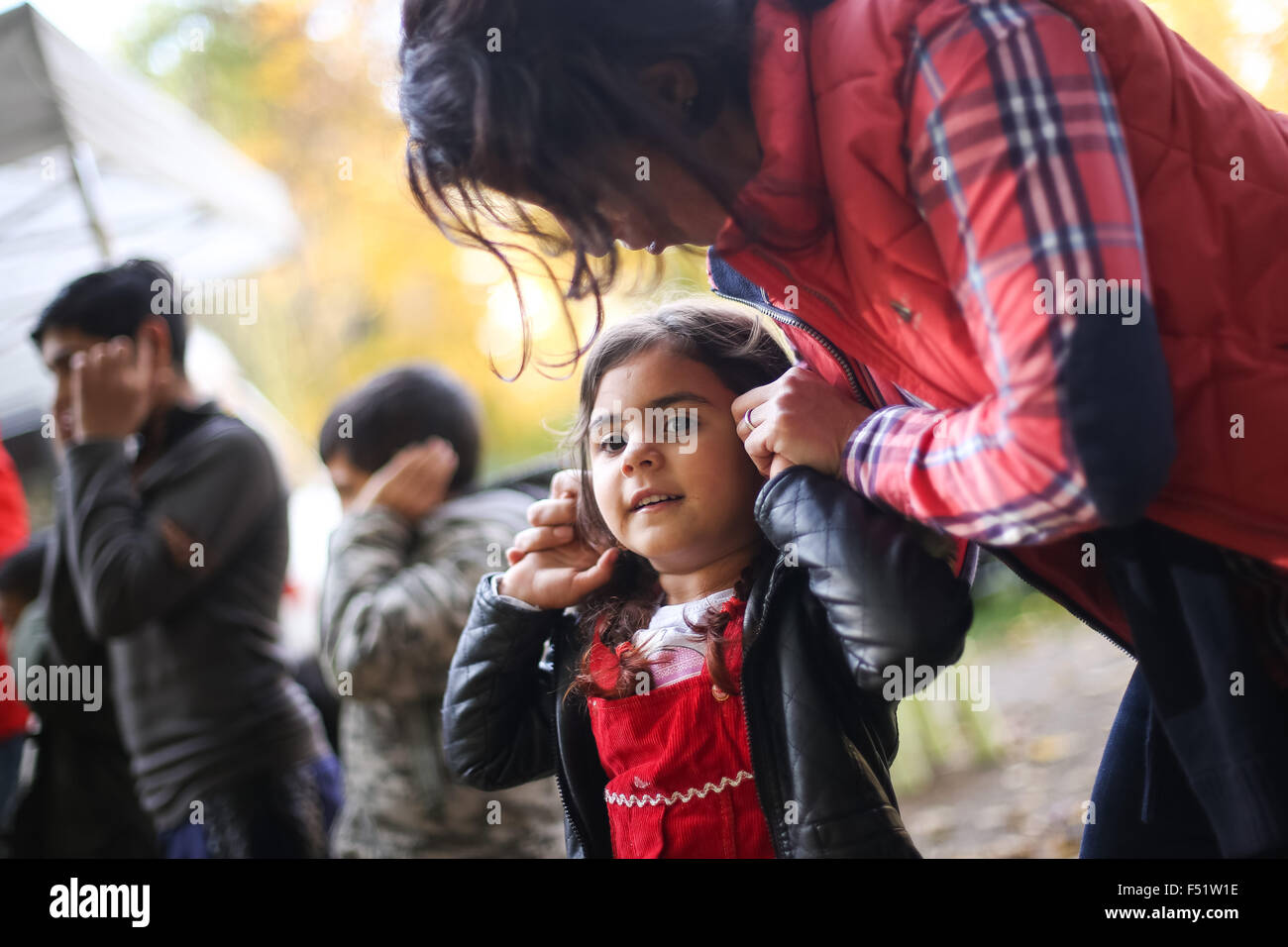 Gelsenkirchen, Germany. 26th Oct, 2015. A girl from Bulgaria playing in Gelsenkirchen, Germany, 26 October 2015. Stock Photo
