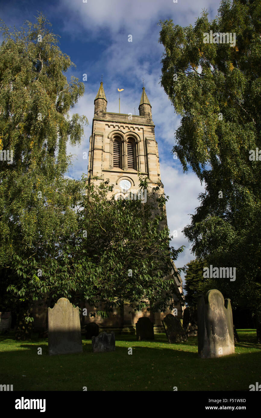 Church of All Saints, Helmsley, North Yorkshire, England, UK. Helmsley is a market town and civil parish in the - Stock Image