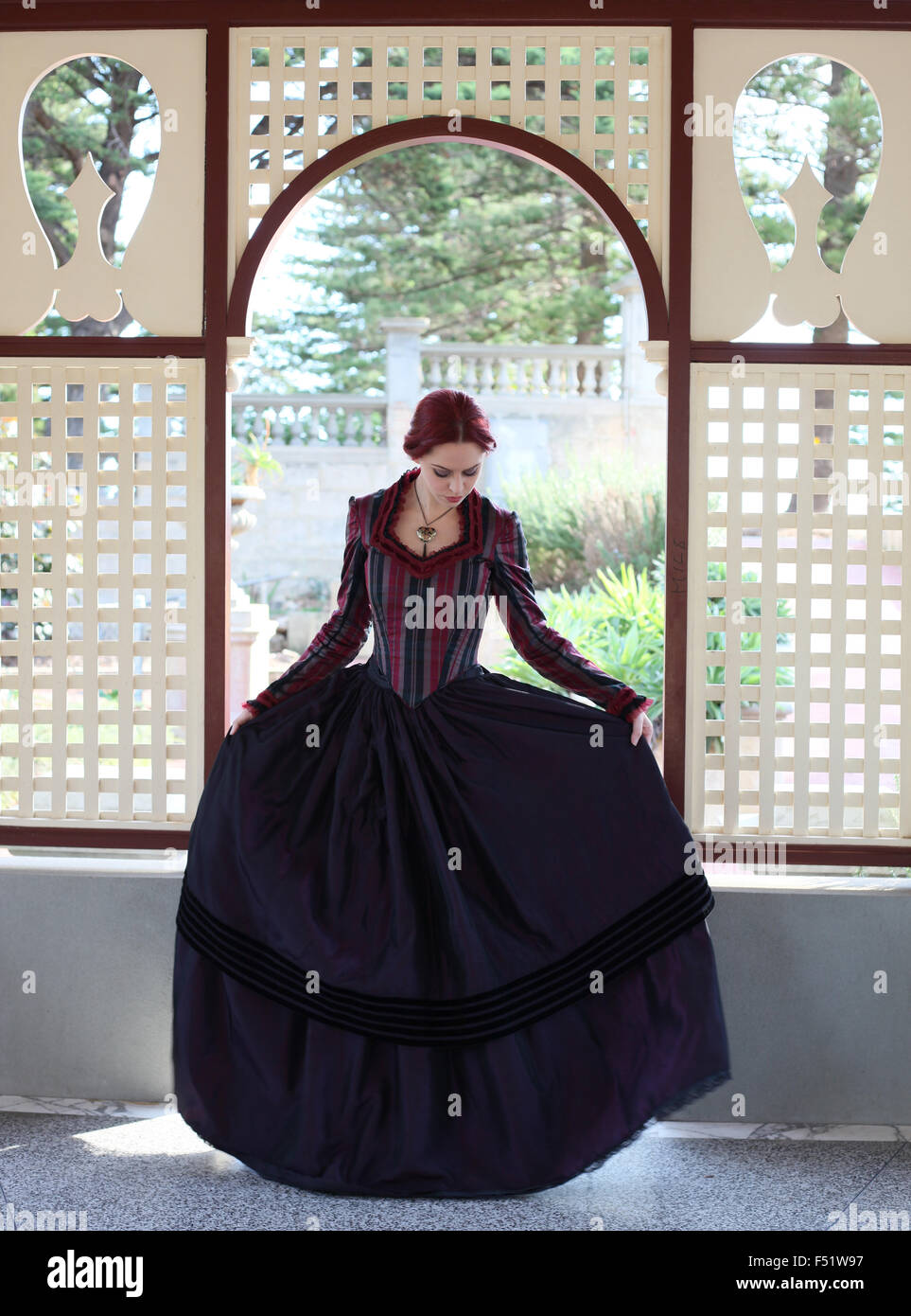 Long Gothic Gown Stock Photos & Long Gothic Gown Stock Images - Alamy