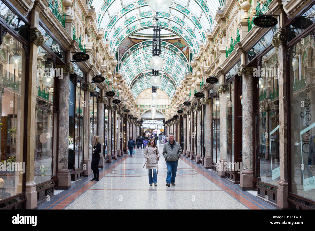 The County Arcade inside the Victoria Quarter in Leeds, West Yorkshire - Stock Image