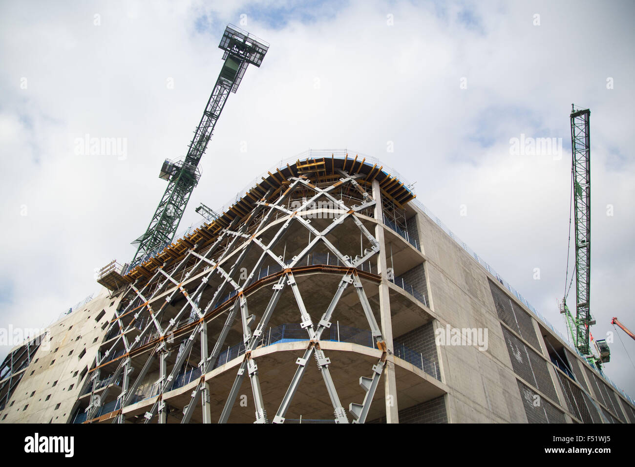 Victoria Gate shopping centre under construction in Leeds, West Yorkshire, Uk. - Stock Image
