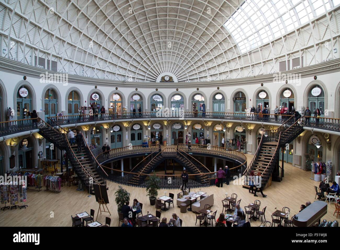 The Leeds Corn Exchange in Leeds, West Yorkshire, UK. - Stock Image