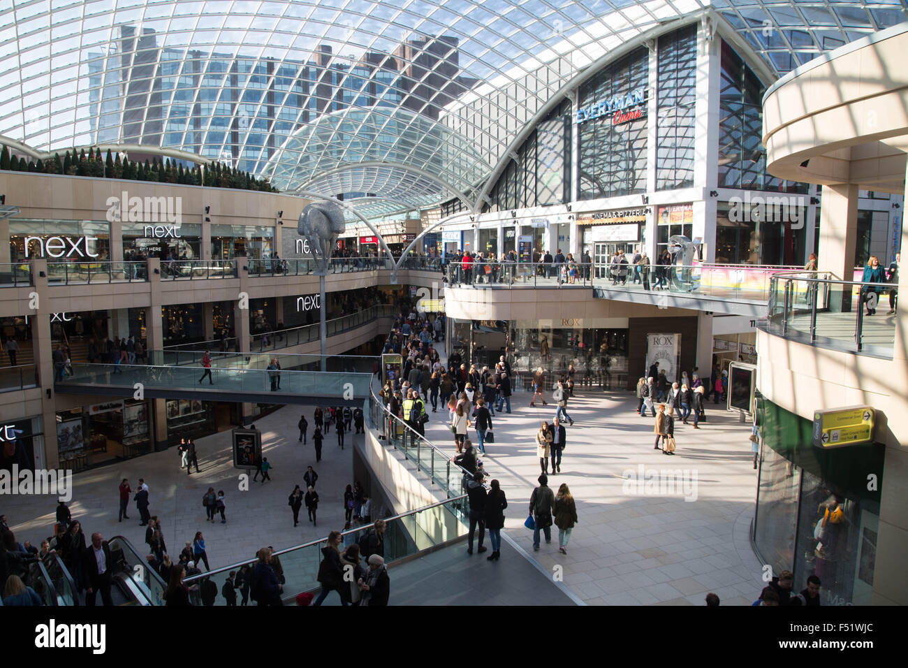 The Trinity Shopping Centre in Leeds, West Yorkshire, UK. - Stock Image