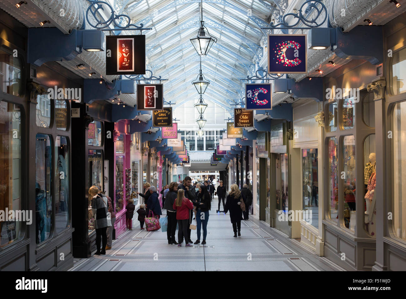 Thornton's Arcade in Leeds, West Yorkshire, UK. Designed by George Smith. - Stock Image