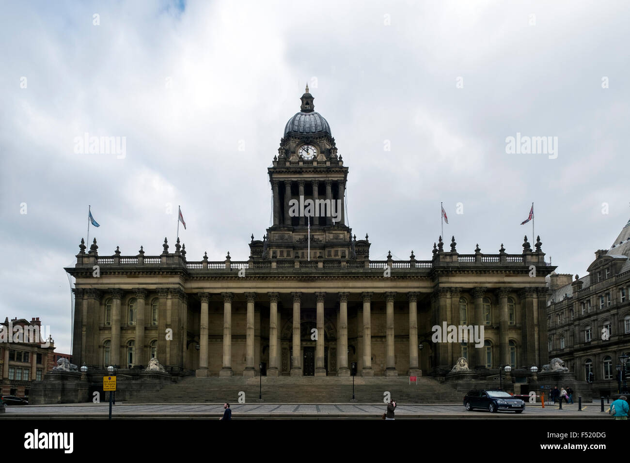 Designed by the local architect Cuthbert Brodrick, Leeds Town Hall Leeds, West Yorkshire, England - Stock Image