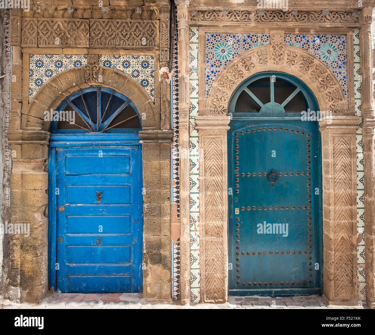 Ancient doors, Essaouira, Morocco - Stock Image - Antique Moroccan Doors Stock Photos & Antique Moroccan Doors Stock