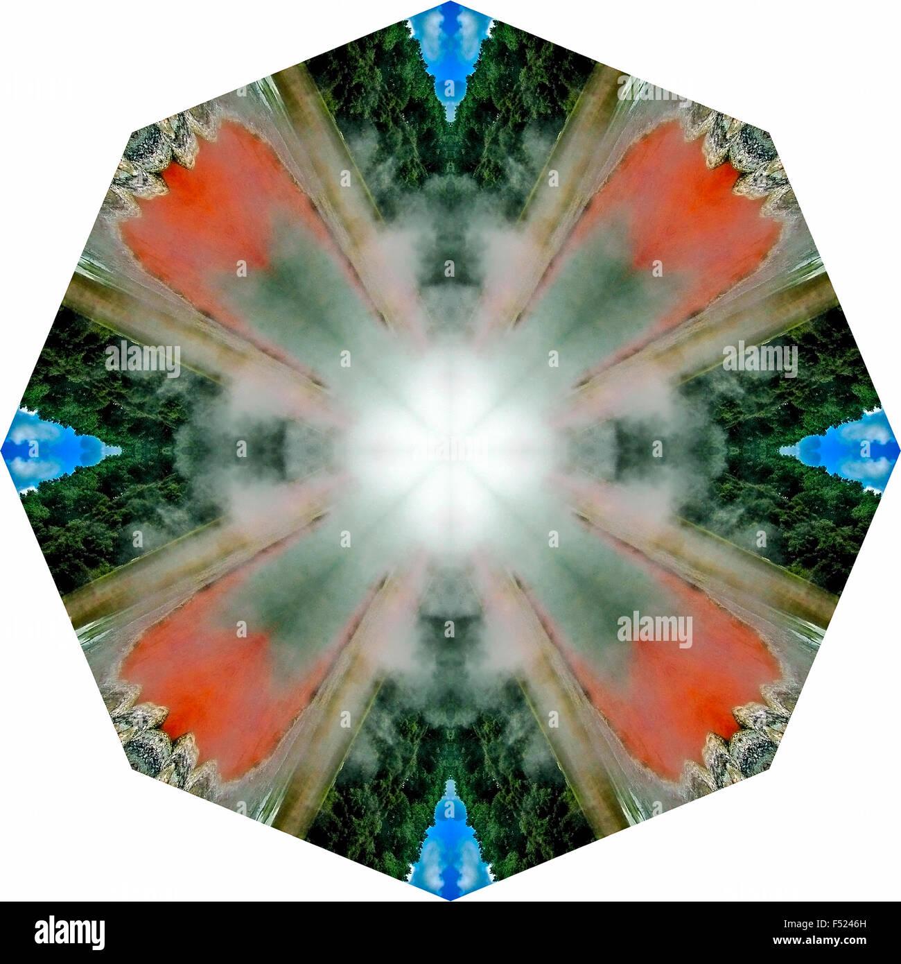 A kaleidoscopic image Stock Photo