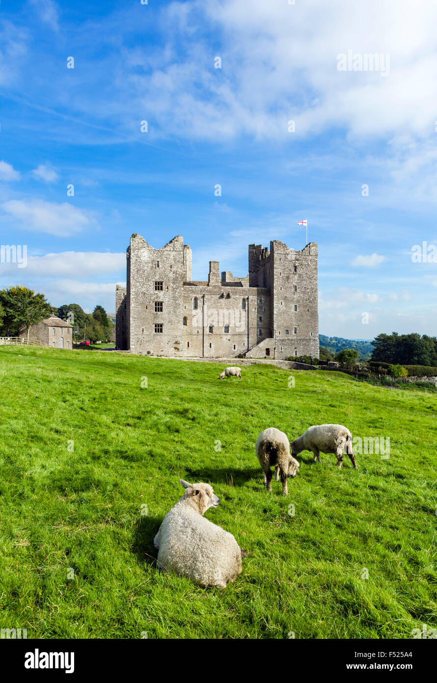 Bolton Castle, Castle Bolton, Wensleydale, Yorkshire Dales, North Yorkshire, England, UK - Stock Image