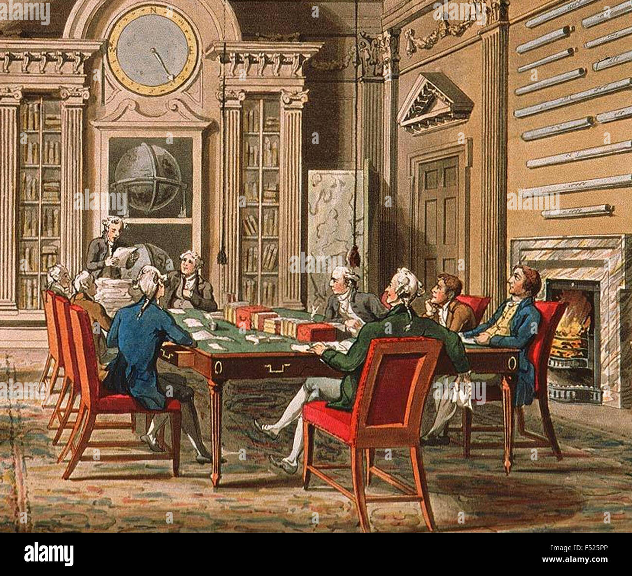 BOARD OF ADMIRALTY, London, from The Microcosm of London, 1808 - Stock Image