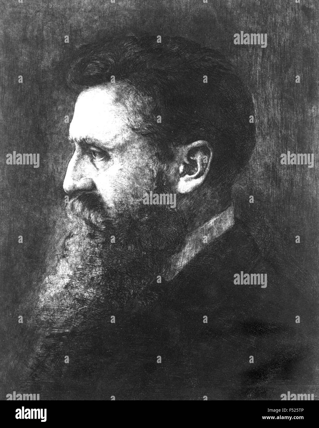 THEODOR HERZL (1860-1904)  Austro-Hungarian journalist who promoted the establishment of a Jewish state in Palestine. - Stock Image