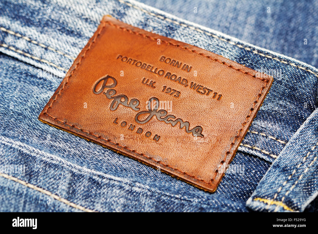 free shipping d7d54 35942 Part of Jeans by Pepe Jeans London, back patch close-up ...