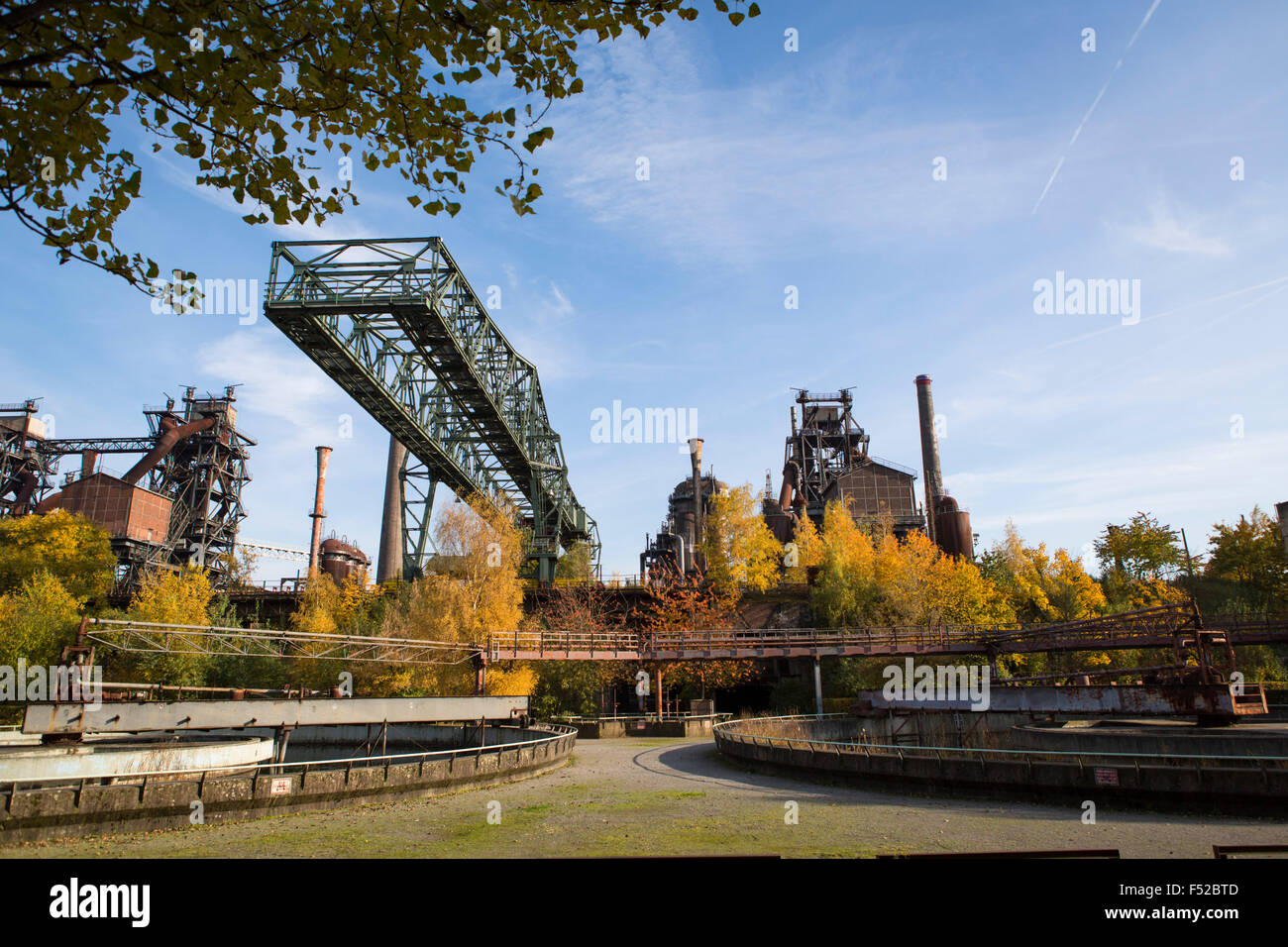 Industrial heritage at the landscape park duisburg nord - The garden place at heritage park ...