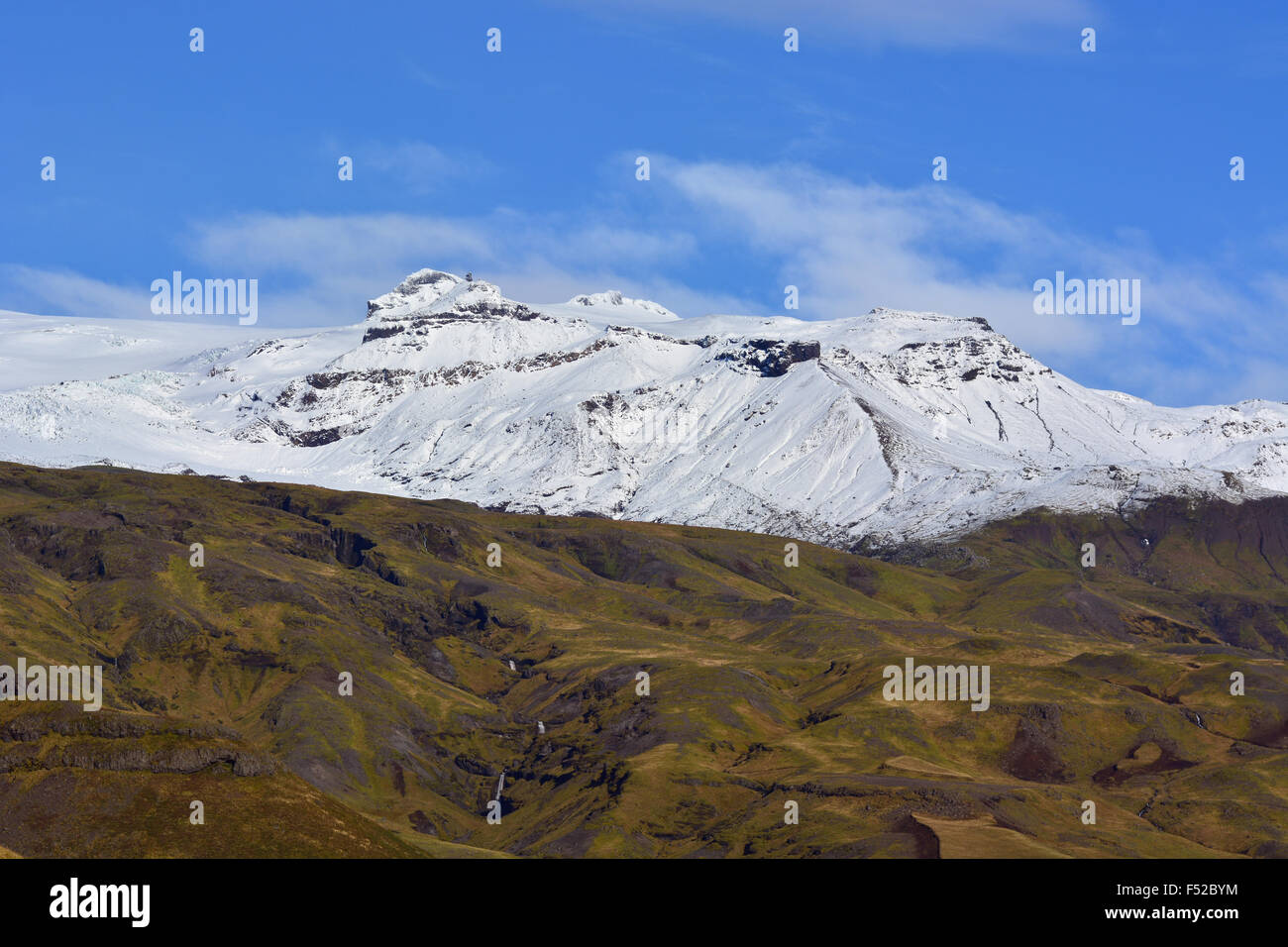 Eyjafjallajökull volcano in South Iceland - Stock Image