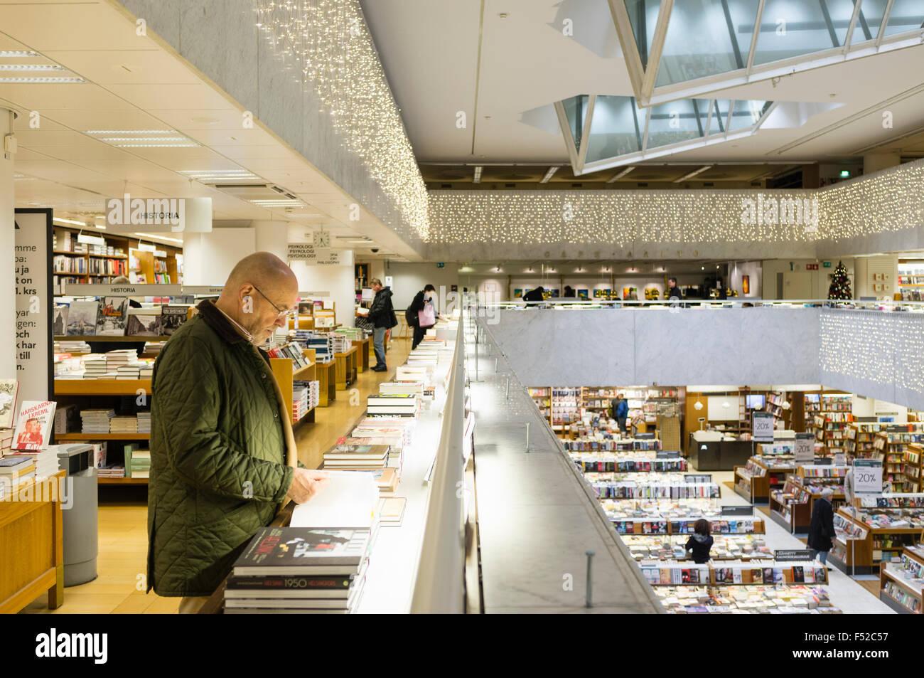 Academic bookstore 1966 - 1969 designed by Alvar Aalto. Centralgatan, 1, Helsinki, Finland - Stock Image