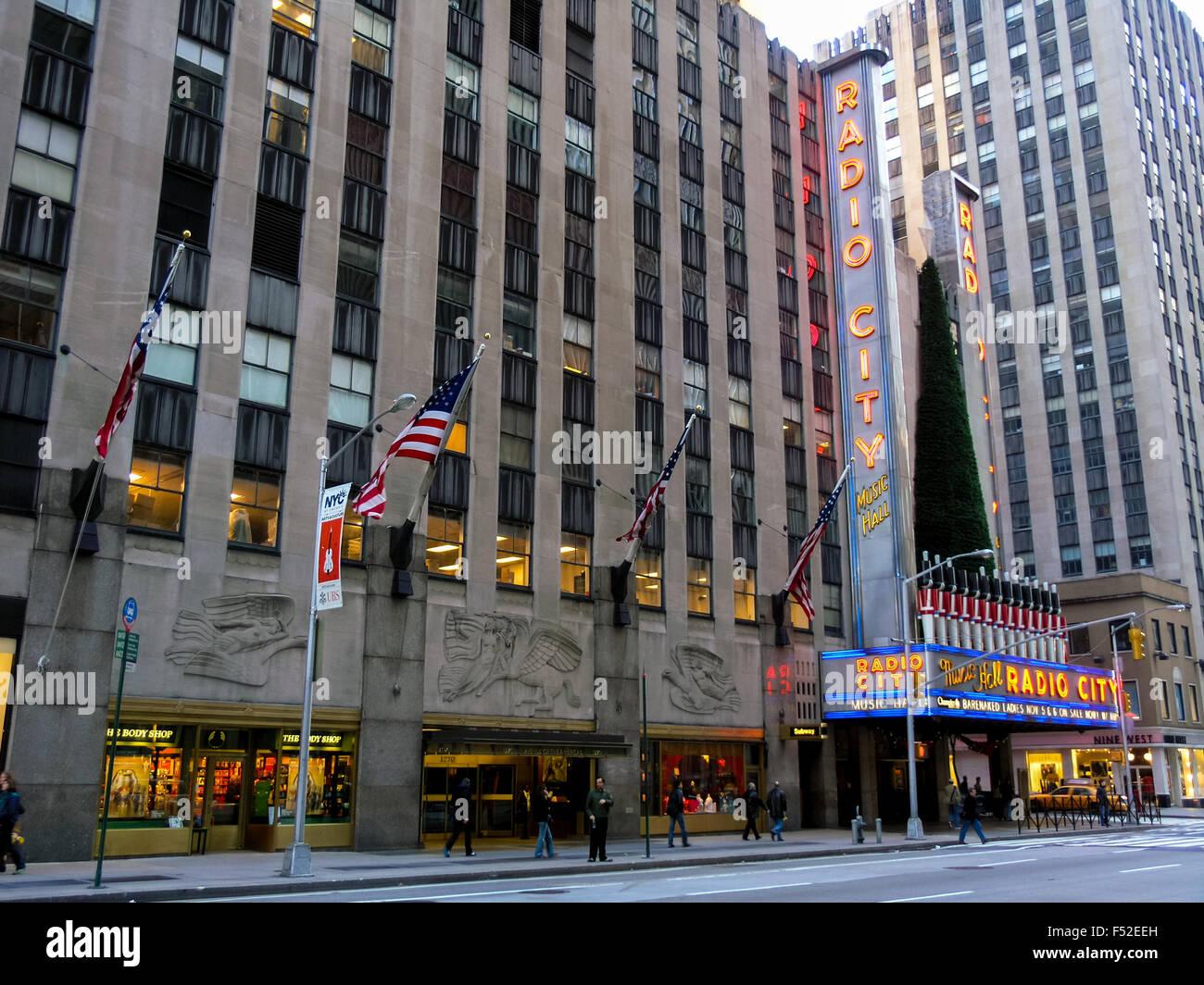 Radio City Hall building, New York, USA - Stock Image