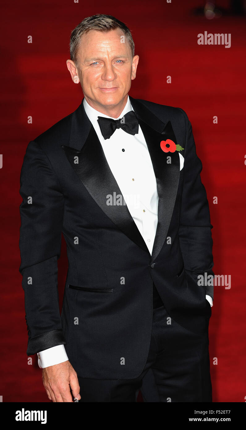 London, Uk. 26th Oct, 2015. Daniel Craig attends the Royal World Premiere of 'Spectre' at Royal Albert Hall. - Stock Image