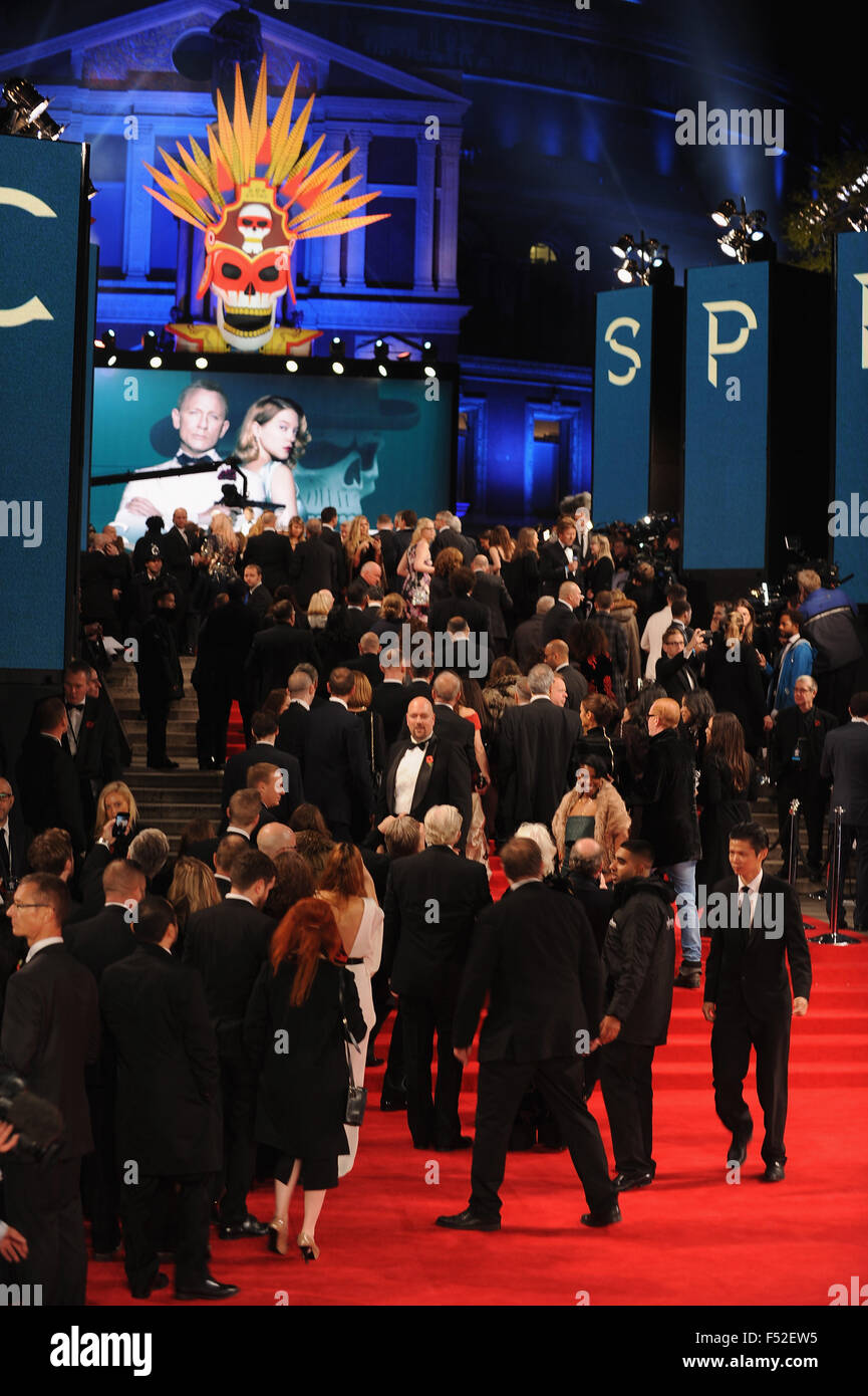 London, Uk. 26th Oct, 2015. Atmosphere at the Royal World Premiere of 'Spectre' at Royal Albert Hall. Credit: - Stock Image