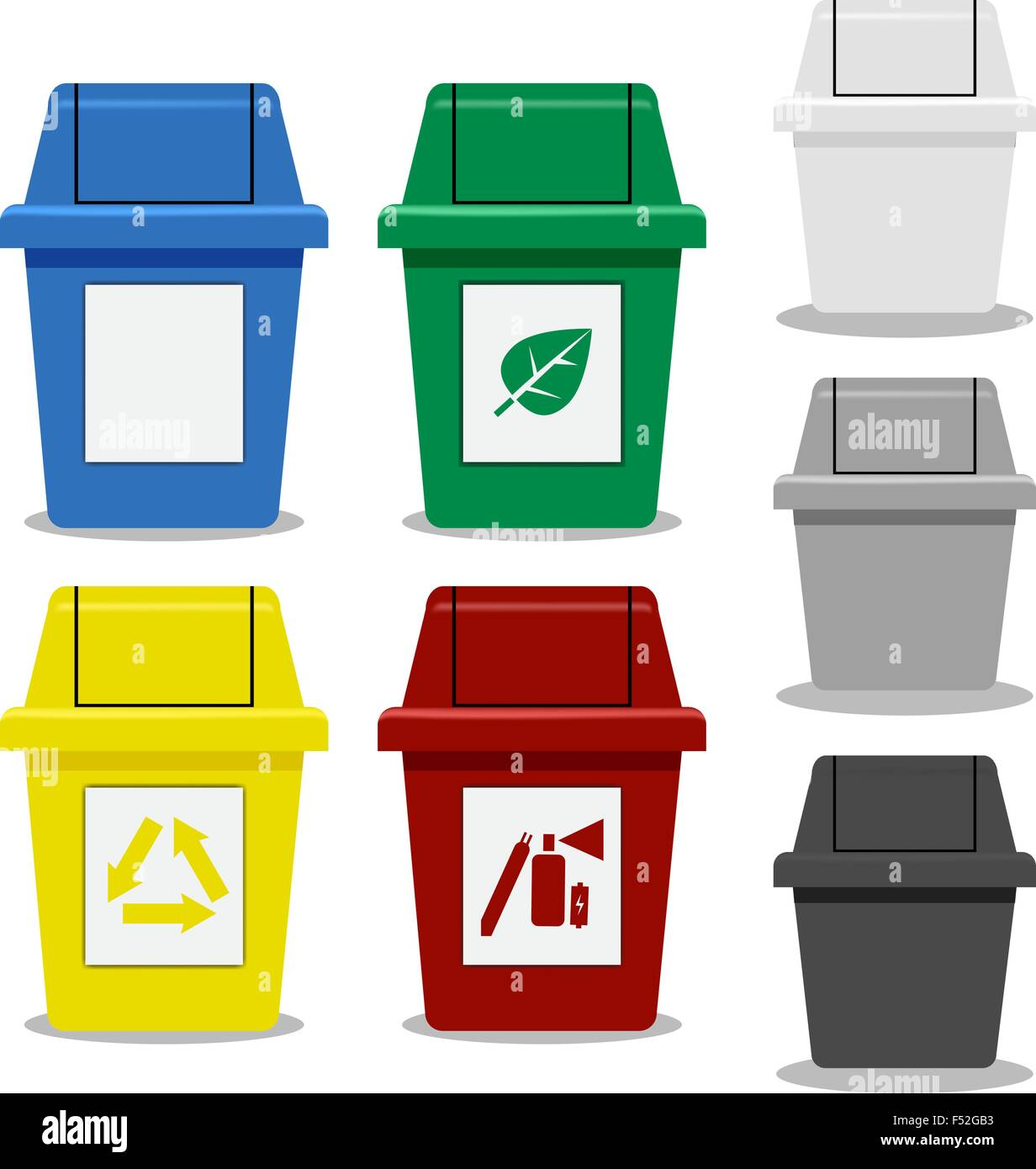 Put Rubbish In The Bin Sign Vector